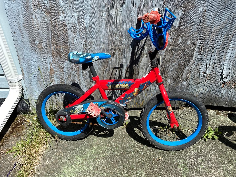 Lot # 238 - Toddler Size Spiderman Bicycle  (main image)