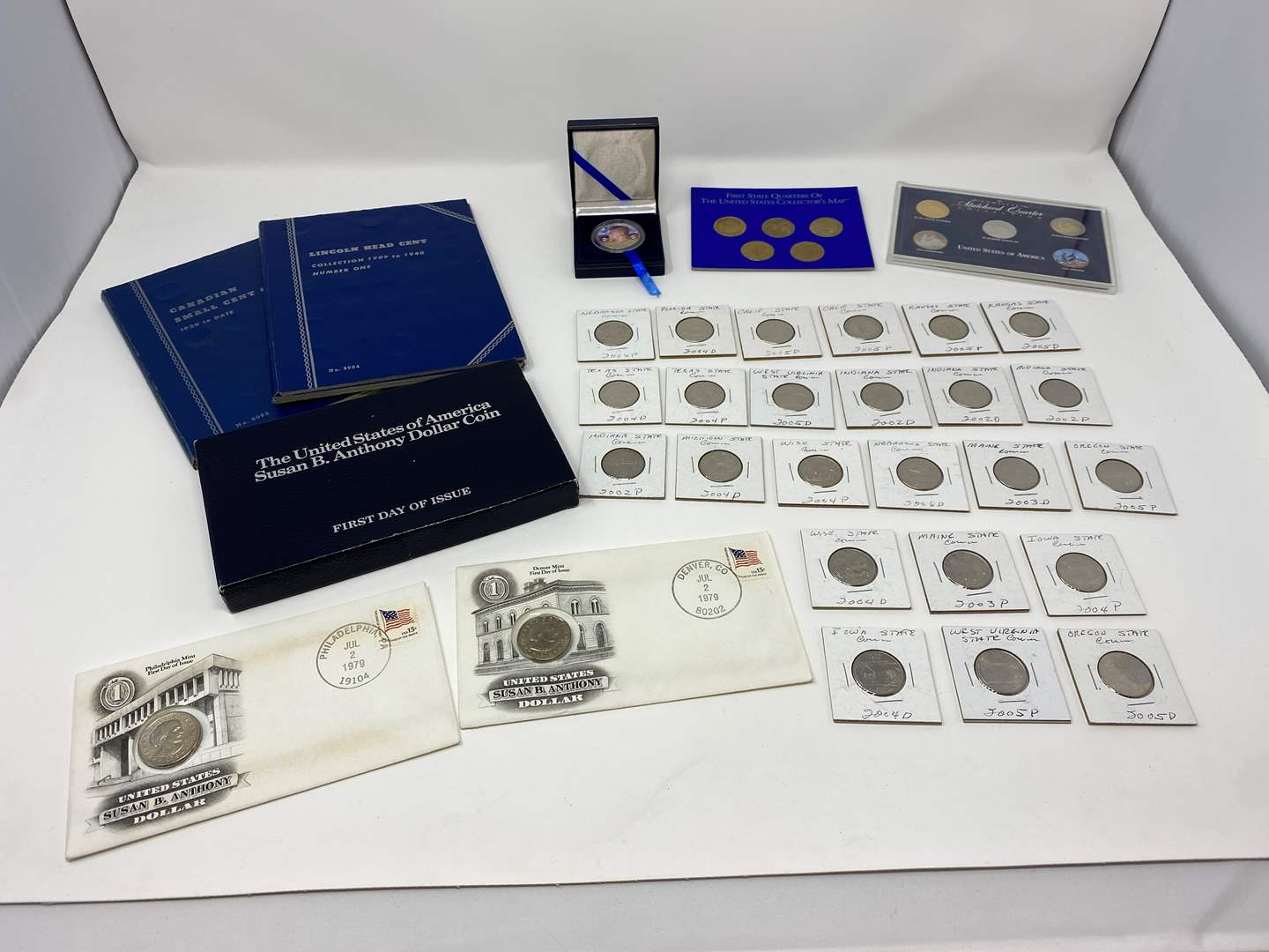 Lot # 260 - State Quarter Collection, 1966 JFK Coin, Susan B. Anthony's, Coin Books (main image)