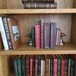 Lot#36 Duck Bookends w/Nice Hardback Books