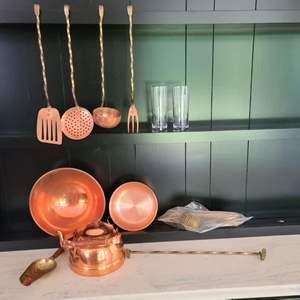 Lot#124 Copper Kitchen Goodies
