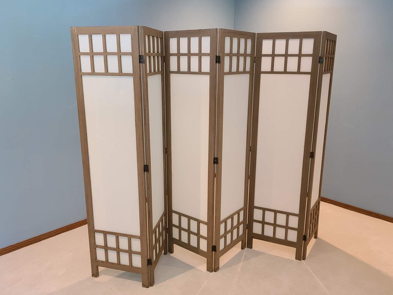Lot#7 Oriental Wood & Canvas Room Divider (main image)