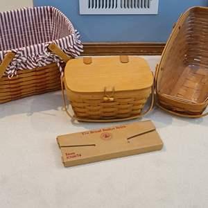 Lot#12 Longaberger Basket Collection & Basket Brick