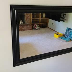 Lot#20 Beautiful Black Framed Mirror