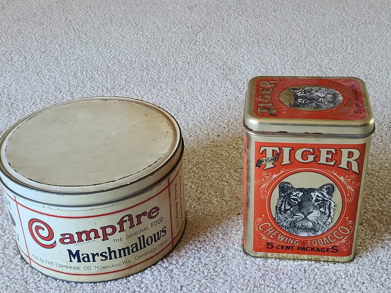 Lot#73 Antique Tins (main image)