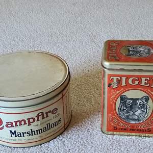 Lot#73 Antique Tins