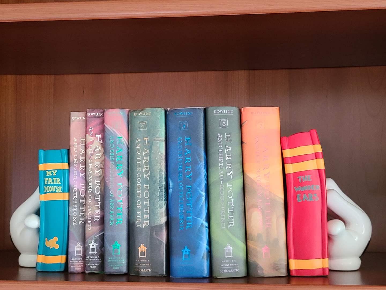 Lot#74 Disney Bookends & Harry Potter Books (main image)