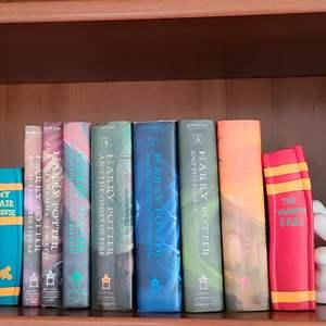 Lot#74 Disney Bookends & Harry Potter Books