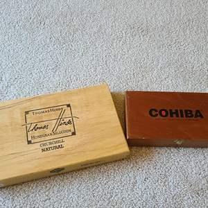 Lot#75 Pair Of Cigar Boxes