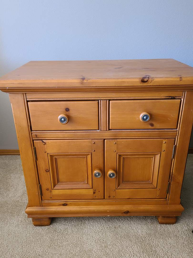 Lot#45 Solid Wood Nightstands (main image)