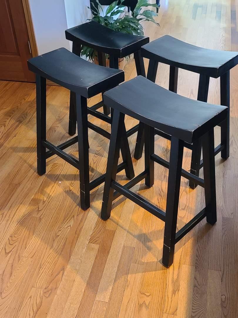 Lot#49 Set Of 4 Wood Barstools (main image)