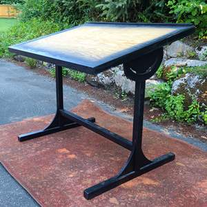 Lot#51 Solid Wood Drafting Table
