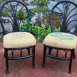 Lot#54 Burlap Coffee Bag Chairs