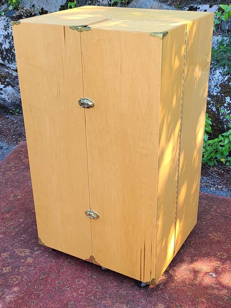 Lot#60 Wood Foldout Armoire (main image)