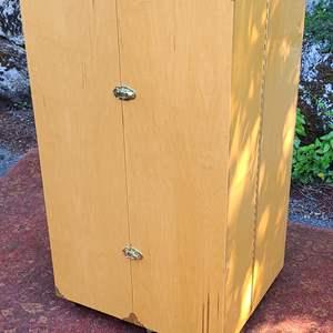 Lot#60 Wood Foldout Armoire