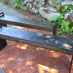 Lot#79 Distressed Look Wood Benches