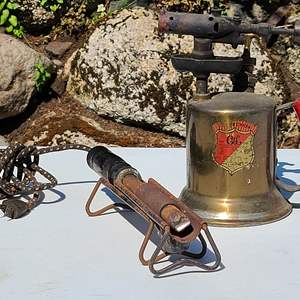 Lot#95 Antique Blow Torch & Soldering Iron