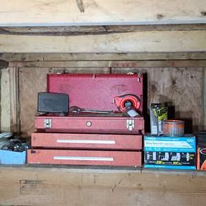 Lot#195 Old Toolbox & Tools