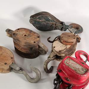 Lot#156 Really Cool Nautical Pulleys
