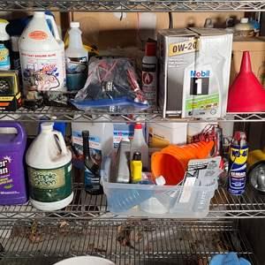 Lot#218 Bottom Shelves Home & Auto Supplies