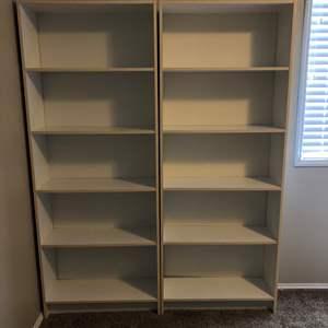 Lot # 30 - Two White Book Shelves