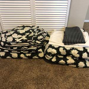 Lot # 32 - Two Twin Flowered Comforters  & Sheets