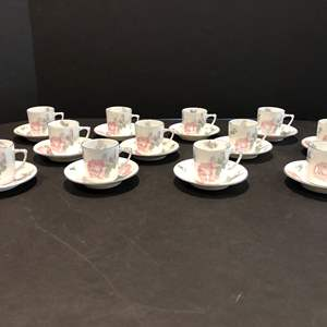 """Lot # 116 - Very Cute Antique Tea Cup & Saucer Set Stamped """"WURTTENBERG"""" - (Owner states these are over 100 years old)"""