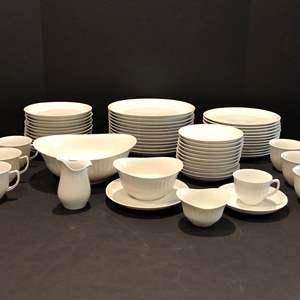 Lot # 119 - Beautiful 67 Piece Set of Porsgrund Norway Porcelain China; Dinner Plates, Tea Cups/Saucers &  More..