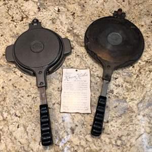 Lot # 153 - One Krum Kaka Waffle Iron & One Waffler