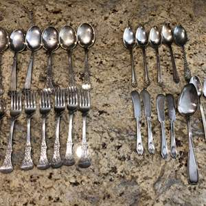 Lot # 212 - Selection of Misc. Forks, Spoons - Some Stamped 830s