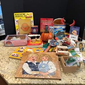 Lot # 213 - Dapper Dan Magnetic Drawing Board, Dolls, Books & More..