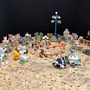 Lot # 216 - Cute Selection of Miniature People, Animals, Miniature Houses & More..