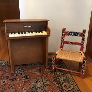 Lot # 221 - Very Darling Child Size Piano & Chair