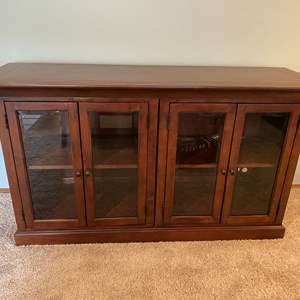 Lot # 17 - Solid Wood TV Stand/Cabinet