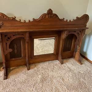 Lot # 20 - Beautiful Antique Wood Buffet or Dresser Topper