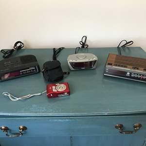 Lot # 55 - Small Selection of Electronics: Nikon Cool Pix Camera, Timex Alarm Clock & Radio