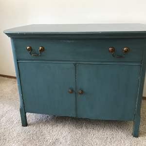 Lot # 56 - Antique Commode w/Dovetail Drawers & Brass Pulls