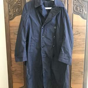 Lot # 57 -  Vintage Navy Trench Coat