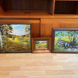 Lot # 92 - Three Original Paintings of Various Sizes by Local Artist Solveig Berg