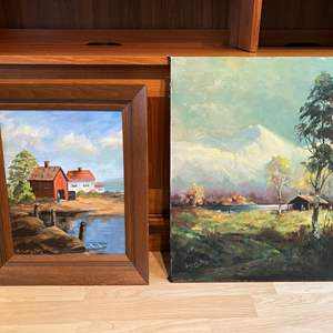 Lot # 93 - Two Pieces of Original Artwork by Solveig Berg