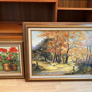 Lot # 96 - Two Pieces of Original Oil on Canvas by Local Artist Solveig Berg