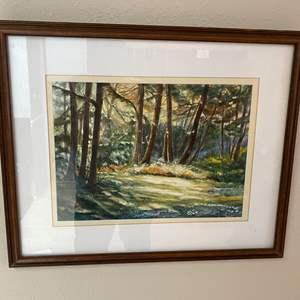 Lot # 100 - Original Framed Watercolor by Local Artist Solveig Berg