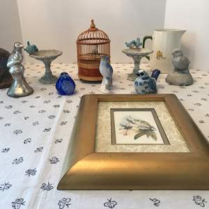 Lot # 71 - Bird Items; Cute Birds, Vintage Duck Pitcher, Clay Ceramic, Glass Items & More..