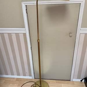 Lot # 138 - Vintage Adjustable Brass Floor Lamp