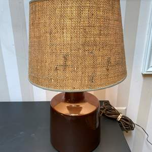Lot # 139 - Vintage Mid-Century Signed Pottery Table Lamp
