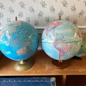 Lot # 143 - Three Vintage Globes