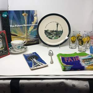 Lot # 134 - World's Fair 1962 Glasses, Book, Scarf & More..