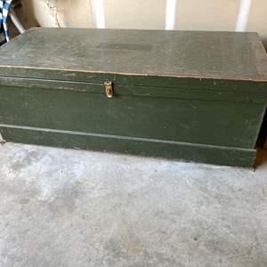 Lot # 196 - Large Wood Storage Chest