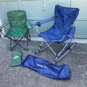 Lot # 235 - Outdoor Rocking Chair, Joe's Outdoor Deluxe Arm Chair