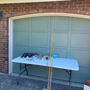 Lot # 242 - Vintage Fishing Rods, Fly Fishing Reels, Empty Reel Cases