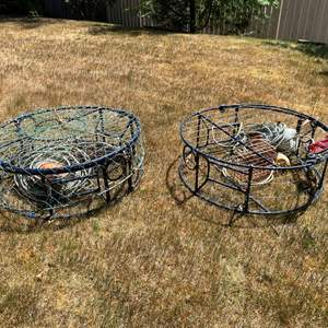 Lot # 243 - Two Metal Heavy Duty Crab Pots